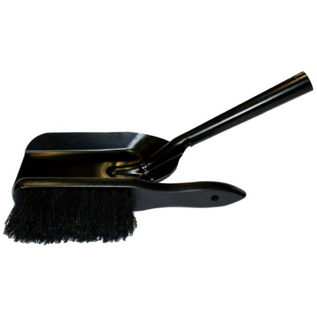 Hearth Brush & Pan Set   Black   Schots