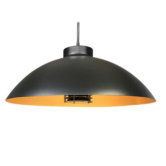 Heatsail Dome Pendant | Black and Gold