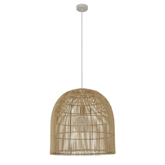 Herman 1 Light 500mm Tall Pendant in Natural | By Beacon Lighting