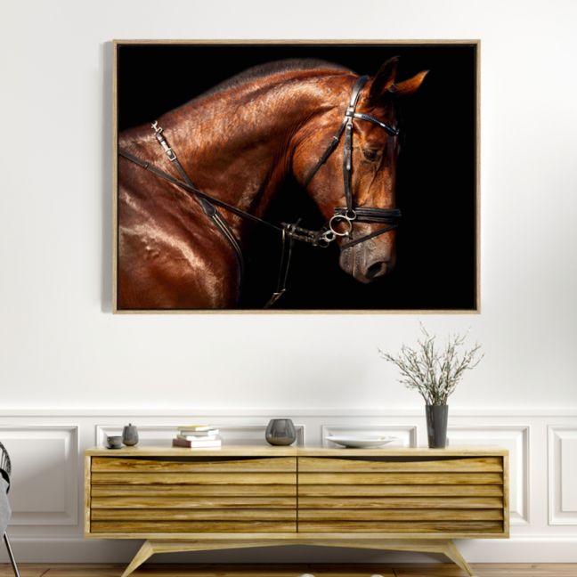 Hermes Horse | Drop Shadow Framed Wall Art