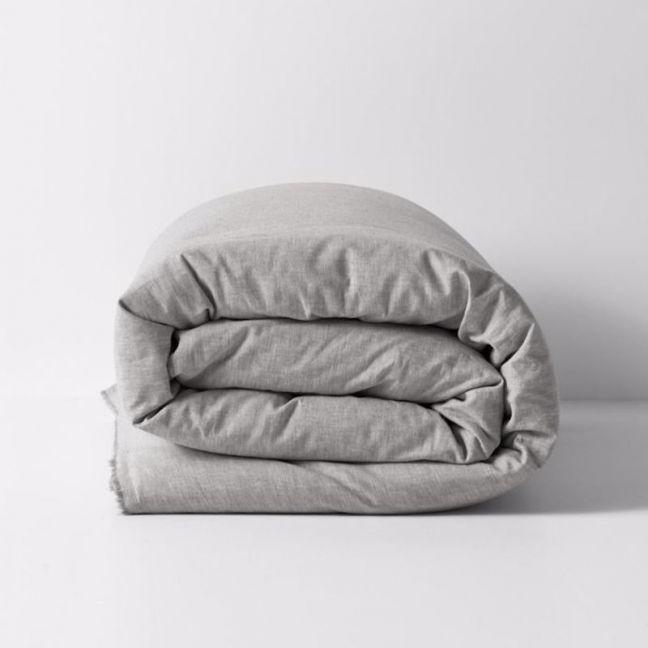 Herringbone Quilt Cover | Dove
