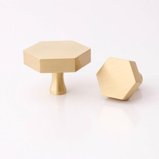 Hexagon Knob | Brass