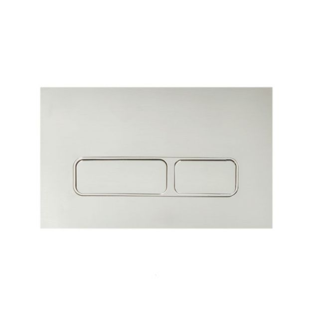 Hideaway Rectangle Button/ Plate Inwall ABS Brushed