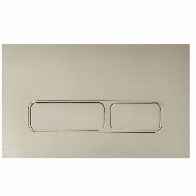 Hideaway+ Rectangle Button/ Plate Inwall ABS Brushed Nickel   Reece