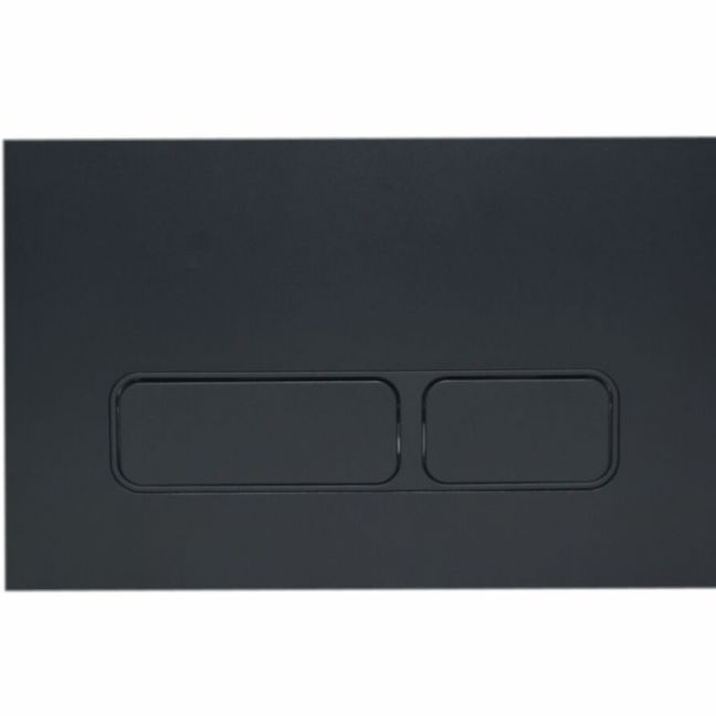 Hideaway Rectangle Button Plate Inwall ABS Matte Black