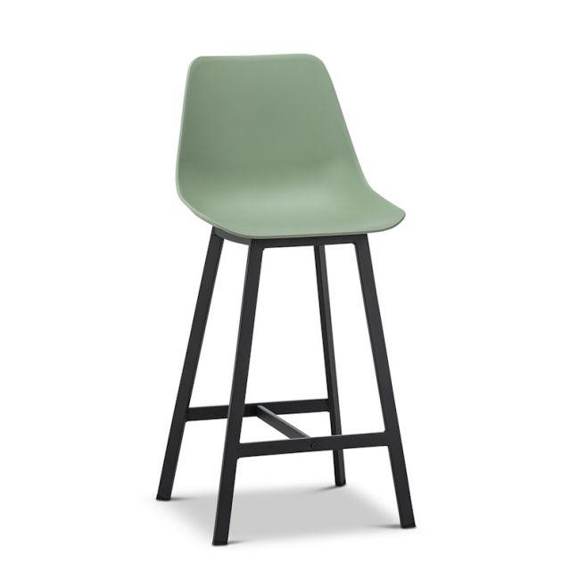 High Back Barstool | Hanns Sage Pastel Green 67cm | Set of 2