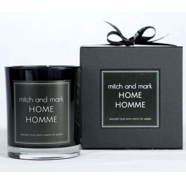 HOMME Essential Oil Candle   Limited Edition   Personally signed by Mitch and Mark