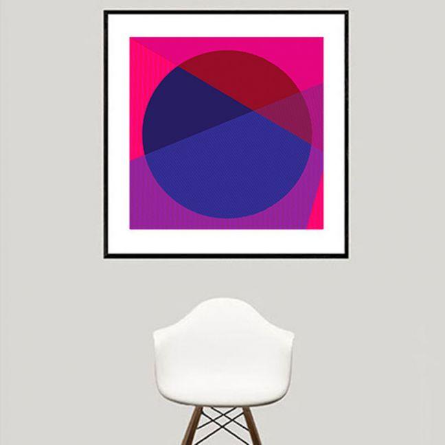 Horizon   Fuchsia   Limited Edition   Fine Art Giclee Print