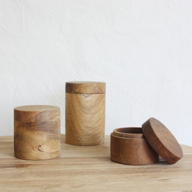 Huba Wooden Canisters l Pre Order
