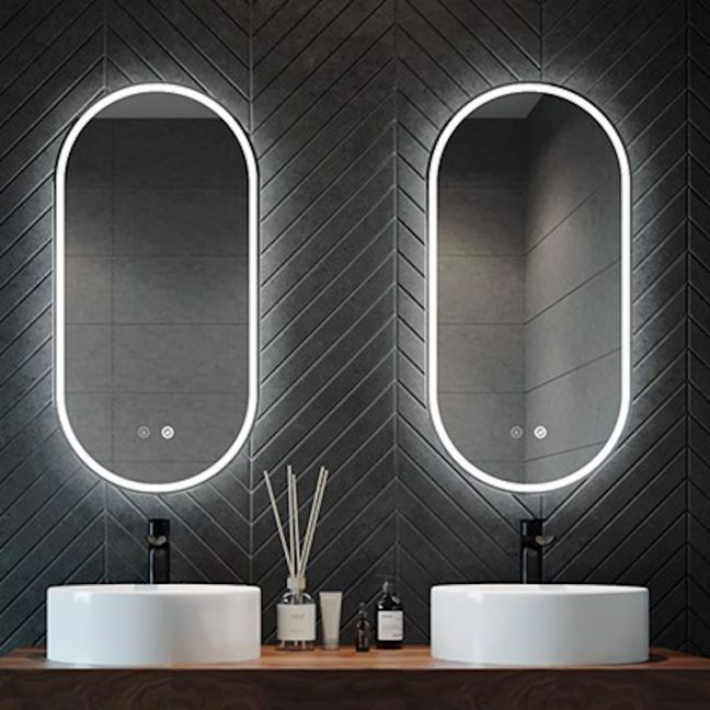 Illuminated Oval Mirror