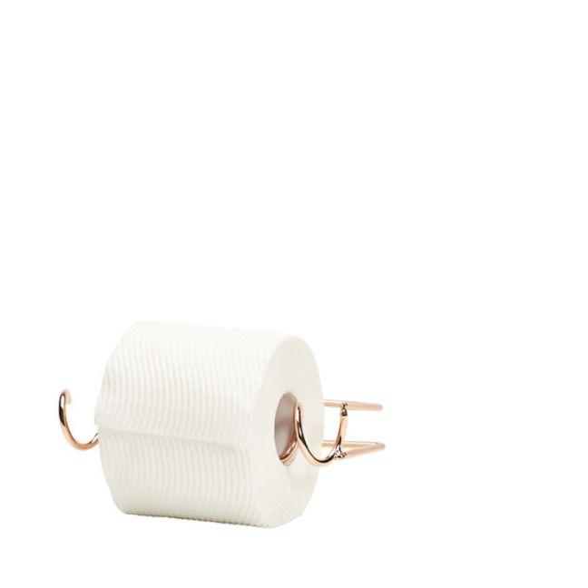 Individual Toilet Roll Holder   Black