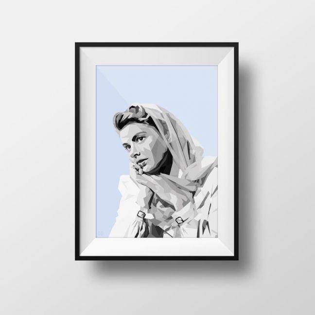 Ingrid   Art Print   Framed and Unframed