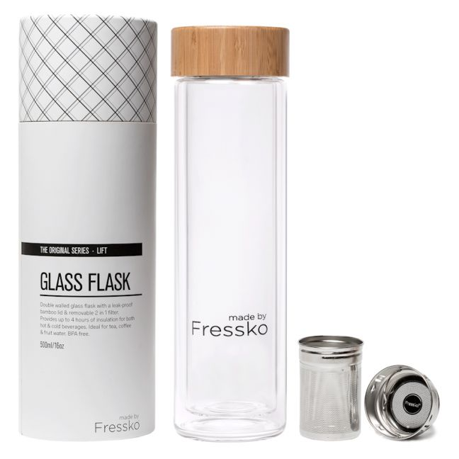 Insulated Flask | Lift Glass | 2 in 1 Infuser 500ml /16oz
