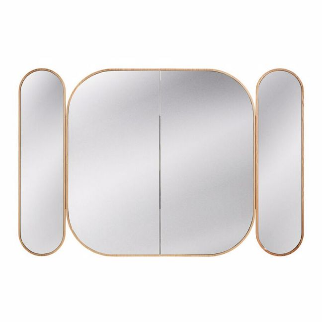 Issy Blossom 1500 x 1000mm Triple Mirror with Shaving Cabinet | Reece