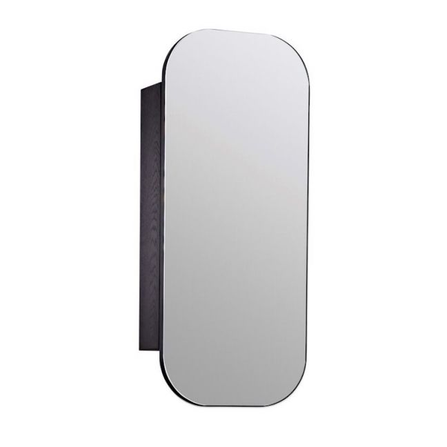 ISSY Z1 Oval Mirror with Shaving Cabinet | Reece