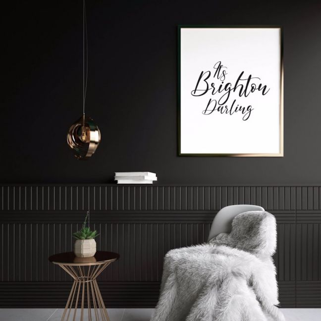 It's Brighton Darling | Print | Stretched Canvas or Printed Panel
