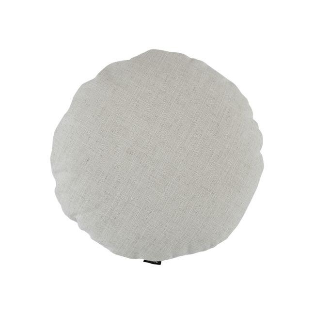 Ivory Woven Round Cushion