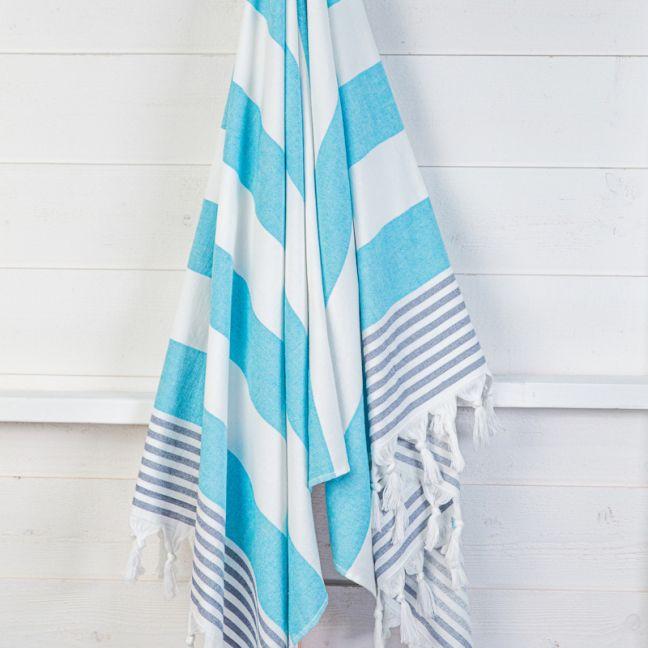 Izmir Azure Denim   Turkish Towel