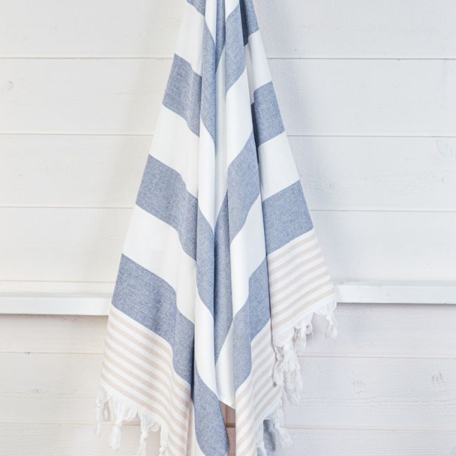 Izmir Denim Sand   Turkish Towel