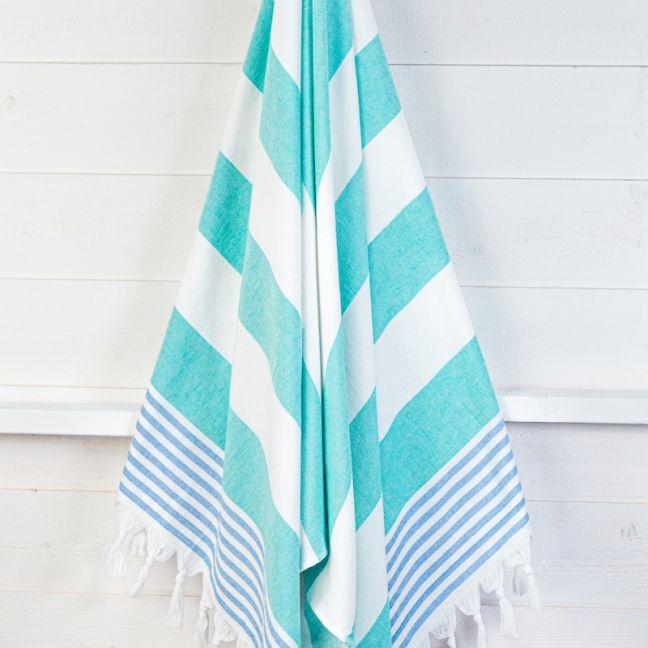 Izmir Mint/Sky   Turkish Towel