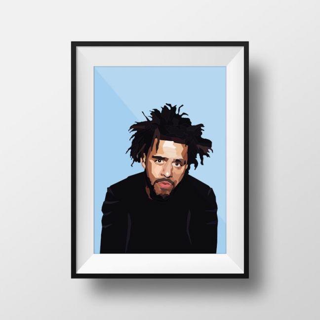 J Cole | Art Print | Framed and Unframed
