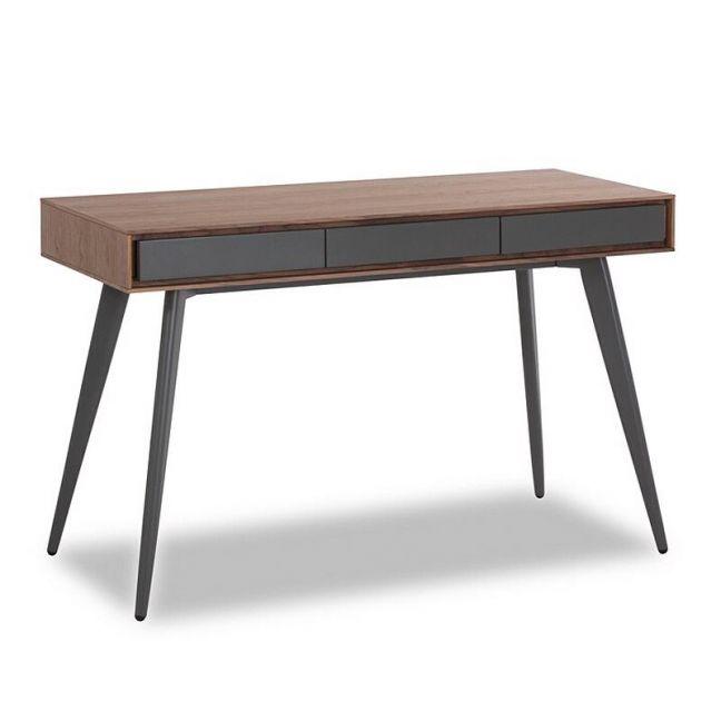Jenson Desk - 120cm | Walnut and Dark Grey