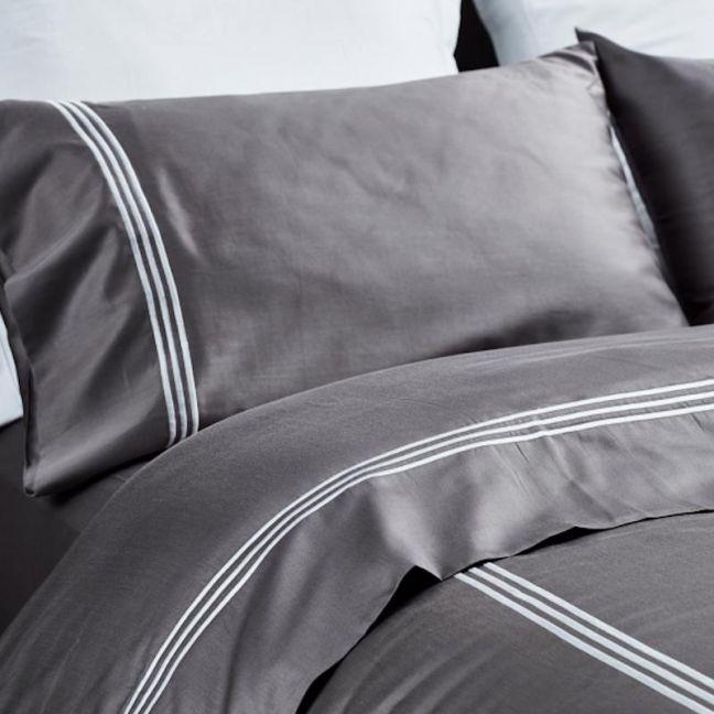 Jonquil Hotel Sheet Set 100% ORGANIC COTTON & FAIRTRADE   STONE