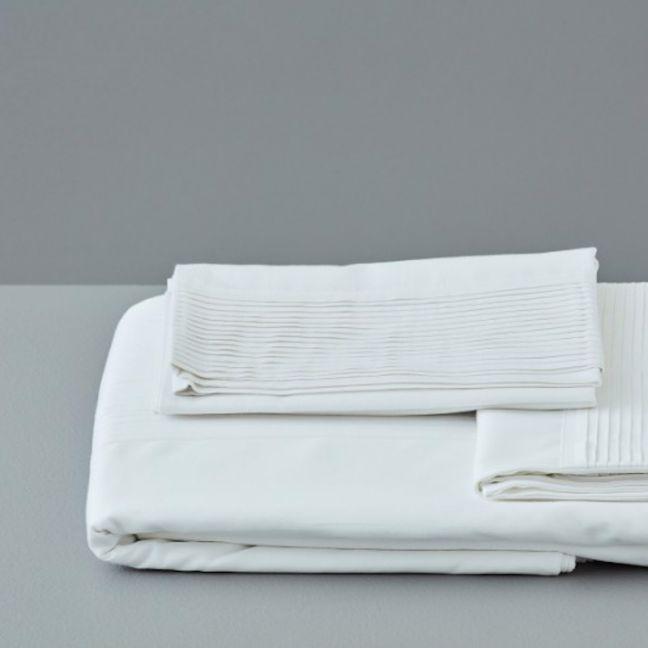 Jonquil Plissé Quilt Set | Dove | 100% Organic Cotton and Fairtrade