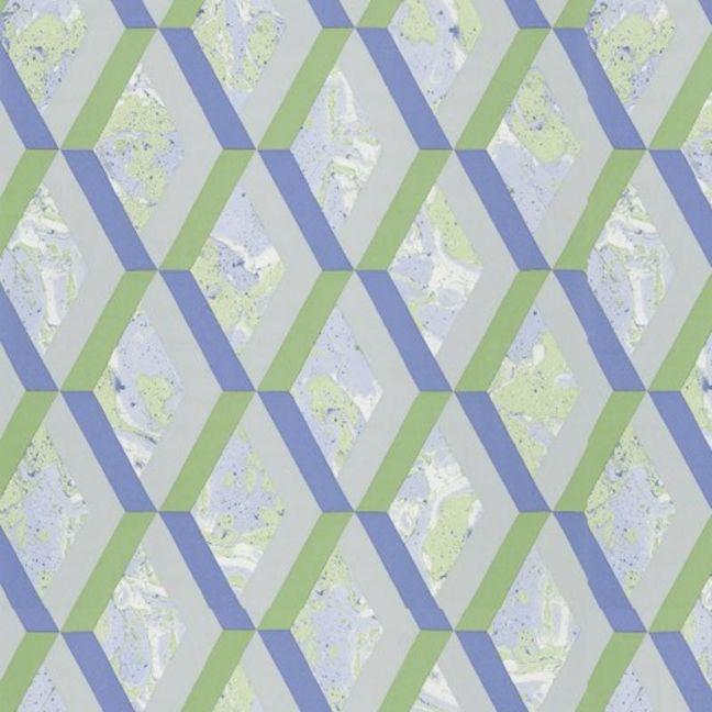 Jourdain Trellis Wallpaper - Cobalt