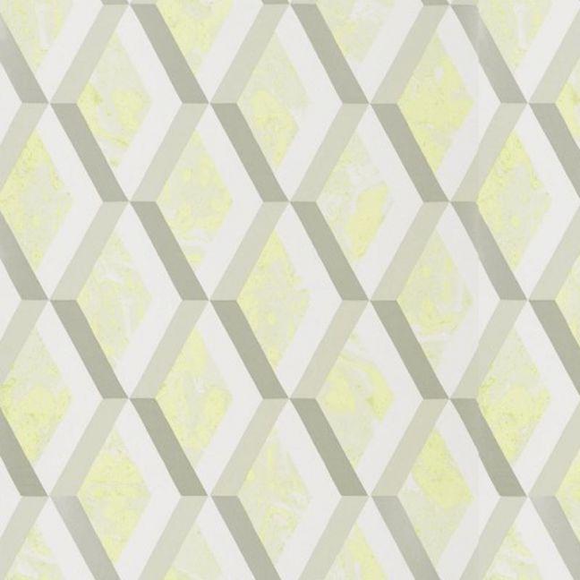 Jourdain Trellis Wallpaper - Limelight
