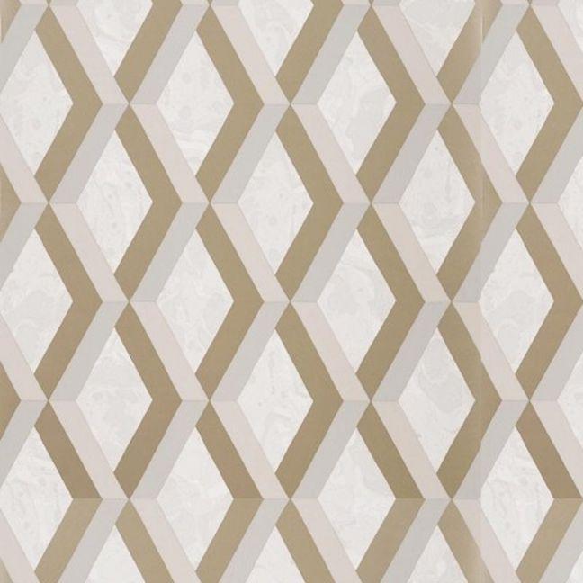 Jourdain Trellis Wallpaper - Linen