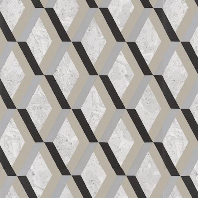 Jourdain Trellis Wallpaper - Noir
