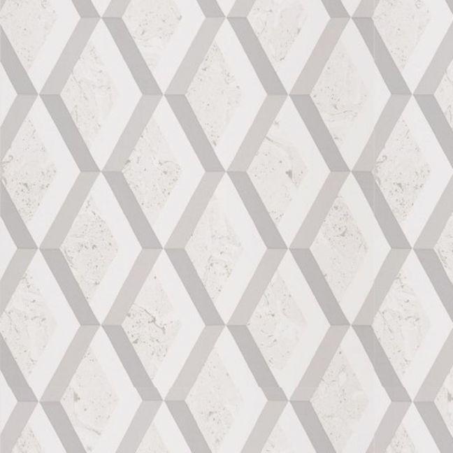 Jourdain Trellis Wallpaper - Steel