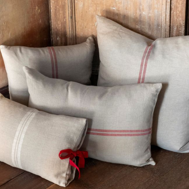 Juliette Cushion | French Linen | Red