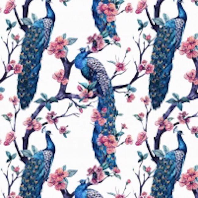 Jungle Bird Wallpaper - White