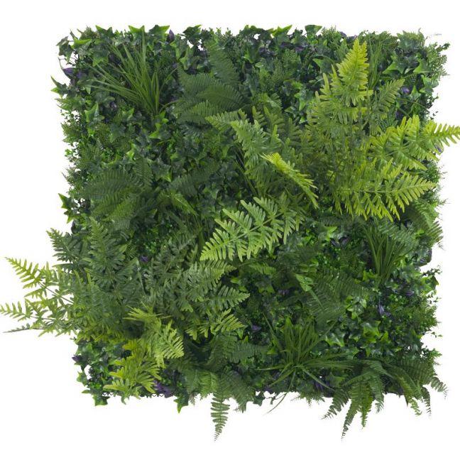 Jungle Fern Vertical Garden   Green Wall UV Resistant   1m x 1m