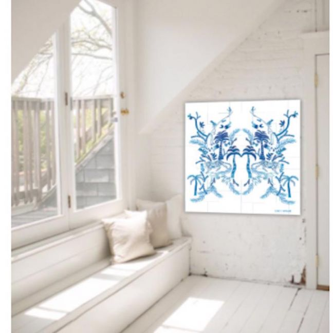 Jungle Warrior in White | Canvas Print | Libby Watkins