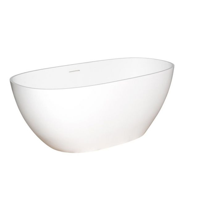 Kado Lussi Cast Solid Surface Freestanding Bath 1505mm White