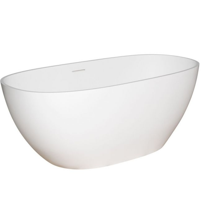 Kado Lussi Cast Solid Surface Freestanding Bath 1700mm White