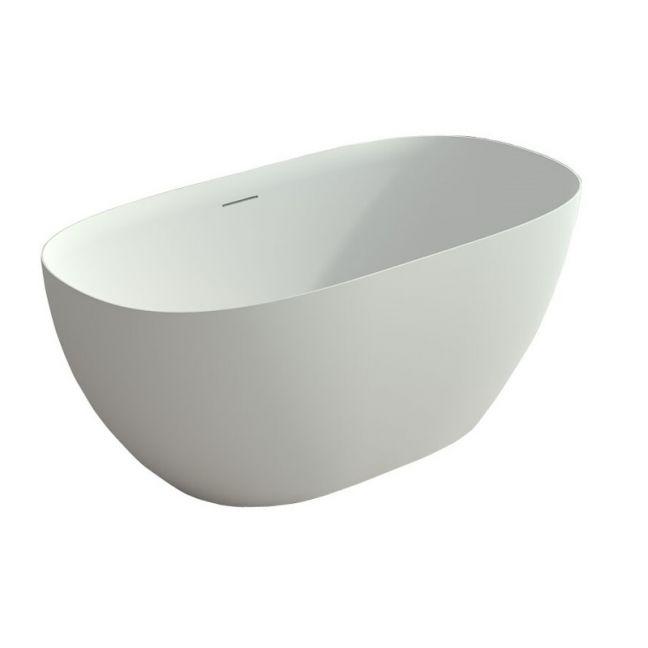 Kado Lussi Cast Solid Surface Freestanding Thin Edge Bath 1700mm White | Reece