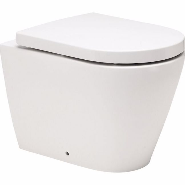 Kado Lux Back to Wall Pan with Quick Release Soft Close Seat White (4 Star) | Reece