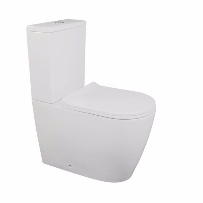 Kado Lux Close Coupled Back to Wall Toilet Suite White