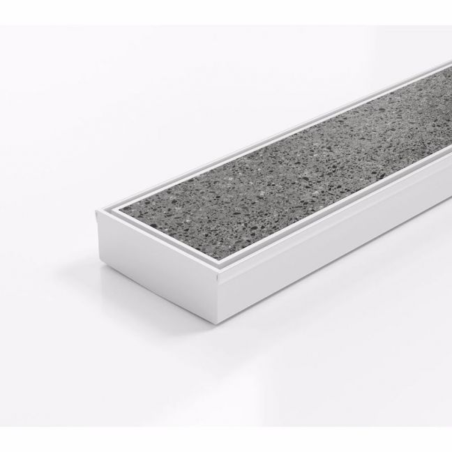 Kado Lux Tile Insert Channel Matte White | Reece