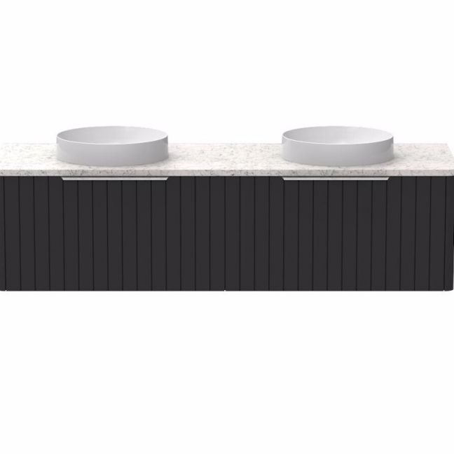 Kado Neue All-Drawer 1500 Double Bowl Wall Hung Vanity Caesarstone | Reece