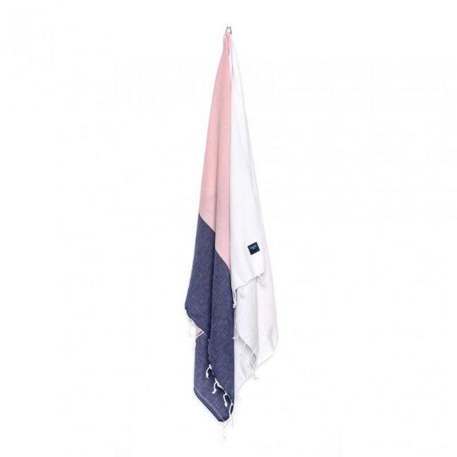 KAI Bath & Beach Towel | Pink, White & Navy