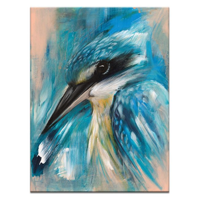 Kale The Kingfisher | Amanda Skye-Mulder | Canvas or Print by Artist Lane