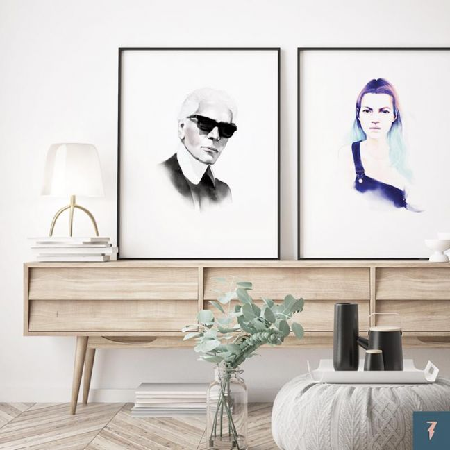 Karl Lagerfeld | Chanel by ANDLIZZY | Unframed Print