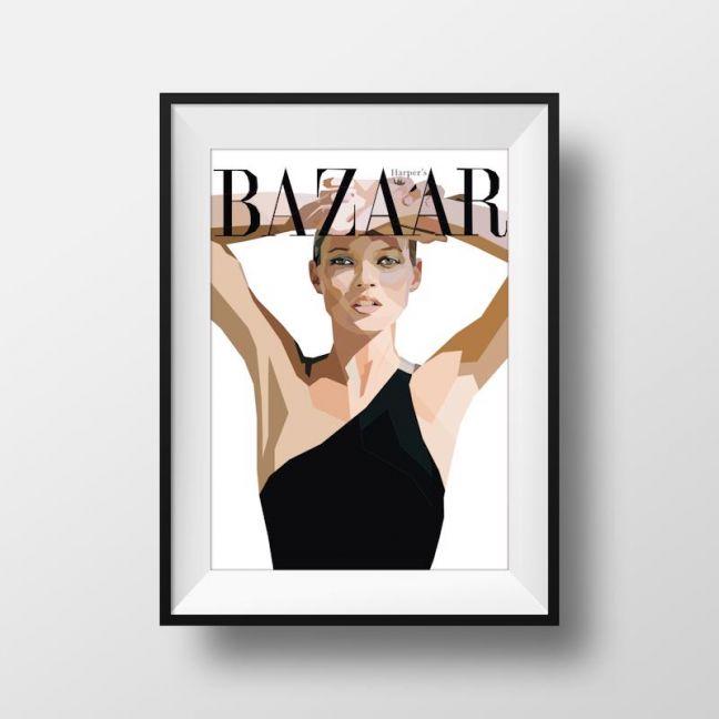Kate Moss | Art Print | Framed and Unframed