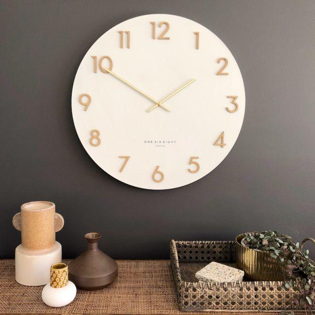 Katelyn Wall Clock | 60cm | Metal | White
