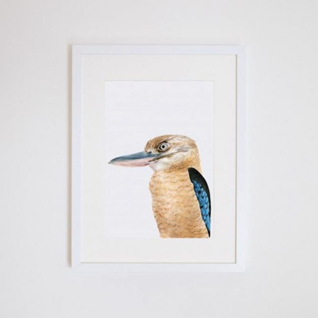 Kenny the Kookaburra Giclee Print | by For Me By Dee